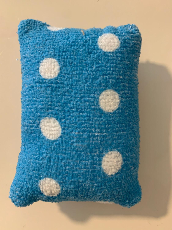 Éponge vaisselle - petit pois bleu