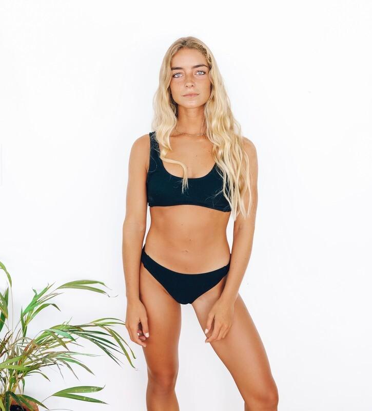 Twist Detail Crop Bikini
