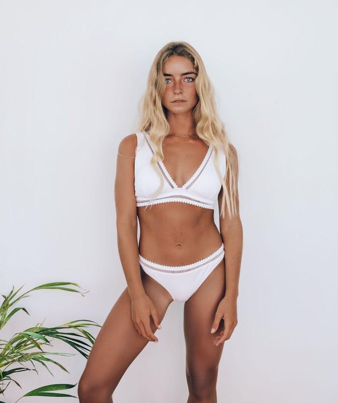 Textured Triangle Bikini