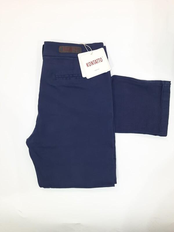 Pantalone chino kontatto blu