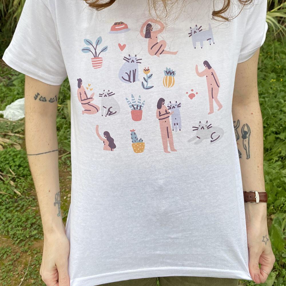 Camiseta Cat Love