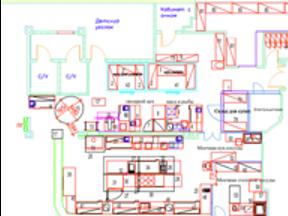Технологический план для средней кухни