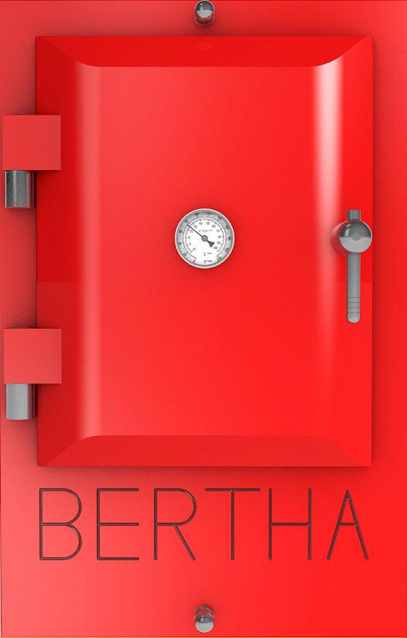Bertha ™ печь-гриль. Цвет: красный RAL 3028