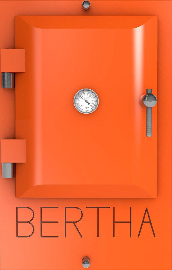 Bertha ™ печь-гриль. Цвет: оранжевый RAL 2008