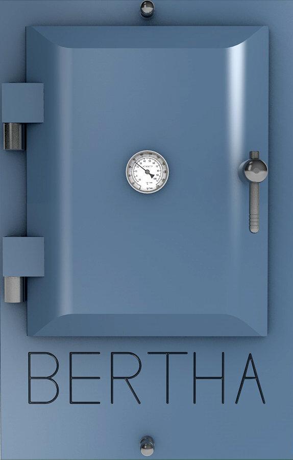 Bertha ™ печь-гриль. Цвет: серо-синий RAL 5014