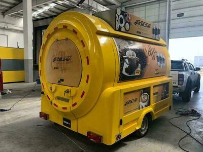 Передвижная автономная кухня MINI одна шасси (Плюс комплектация)