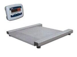 Весы платформенные низкопрофельные MAS PM4RЕ-1.0 (с индикатором на стойке)