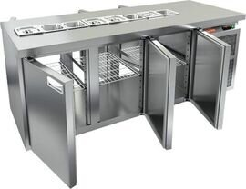 Стол для салатов Hicold SL2T-111/GN (1/6) БЕЗ КРЫШКИ