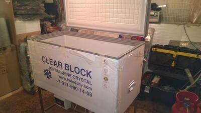 Лёдогенератор прозрачного (блочного) льда Кристалл-М