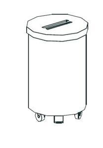 Тележка для мусора Apach Chef Line LWBP75