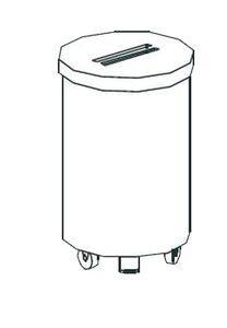 Тележка для мусора Apach Chef Line LWBP95