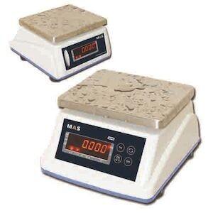 Весы электронные порционные влагостойкие с дисплеем для клиента MAS MSWE-15D