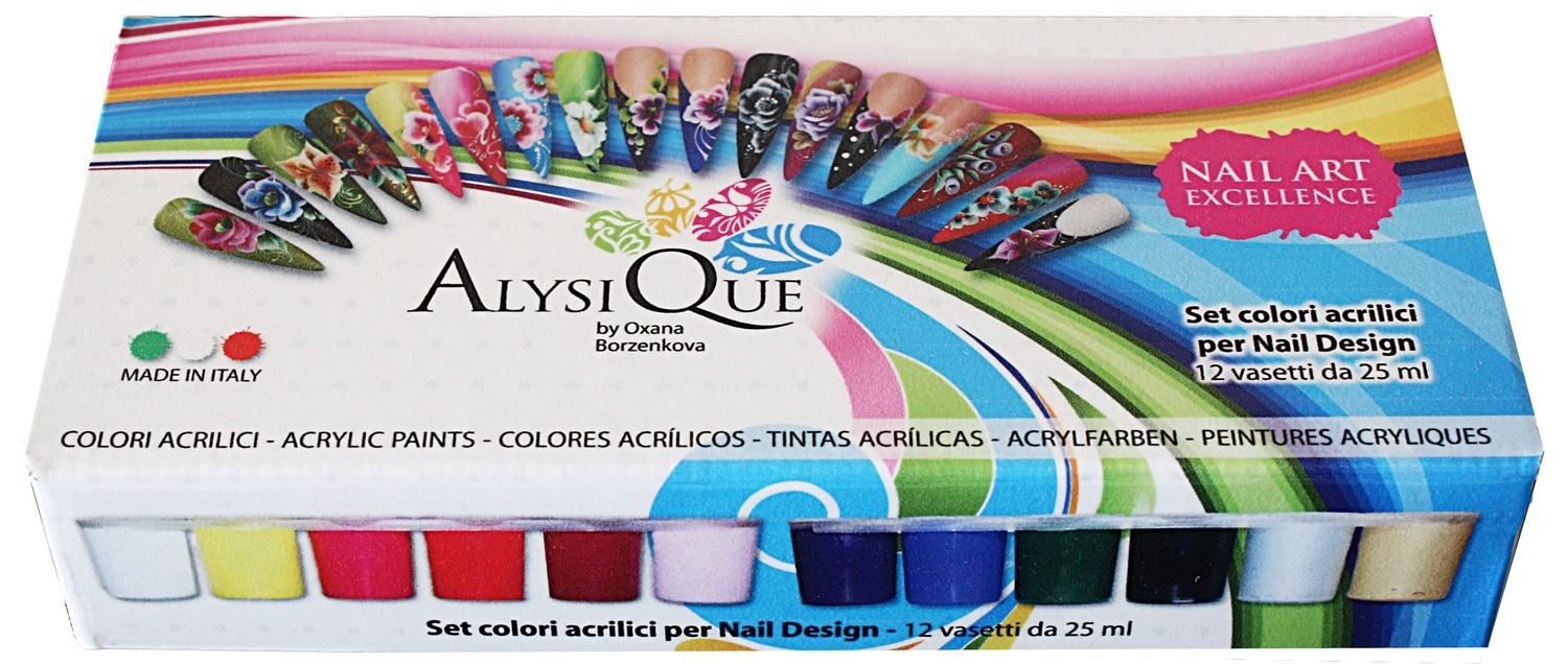 Set 12 Colori Acrilici per Nail Design