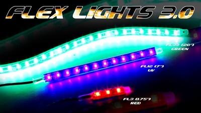 (SINGLE STRIP) FLEX LIGHT SERIES WATERPROOF LIGHTS - ULTRA LOW PROFILE LED LIGHTS