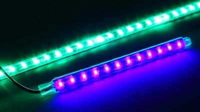 (SET OF 2) FLEX LIGHT SERIES WATERPROOF LIGHTS - ULTRA LOW PROFILE LED LIGHTS