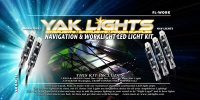 NAVIGATION AND INTERIOR WORK LIGHT KIT - INCLUDES 2 SWITCHES