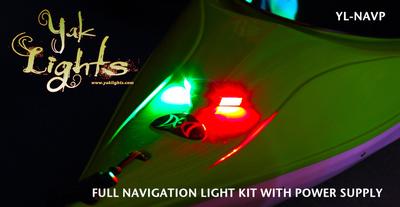NAVIGATION LIGHT KIT WITH BATTERY BOX - ULTRA LOW PROFILE WATERPROOF LED LIGHTS