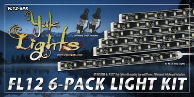 FL12 LED Light Strips 6-Pack (QTY 6)