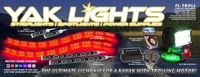 FL-TROLL Lighting Kit - Designed for kayaks with a trolling motor!