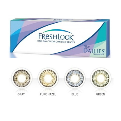 CIBA VISION FreshLook One-day color contact lenses (Pack/ 10 Lenses)