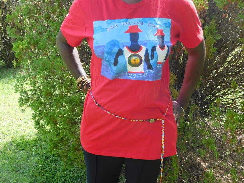 Proudly Authentically Sea Islands Son T with Authentically Yours Healing Waist Beads