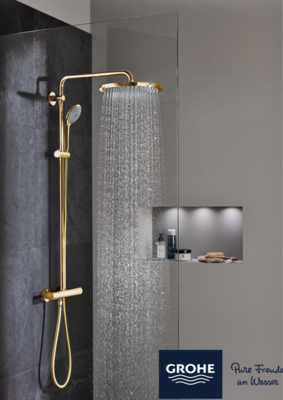 GROHE EUPHORIA- SHOWER SYSTEM EUPHORIA XXL 310 WITH THERMOSTATIC MIXER COOL SUNRISE