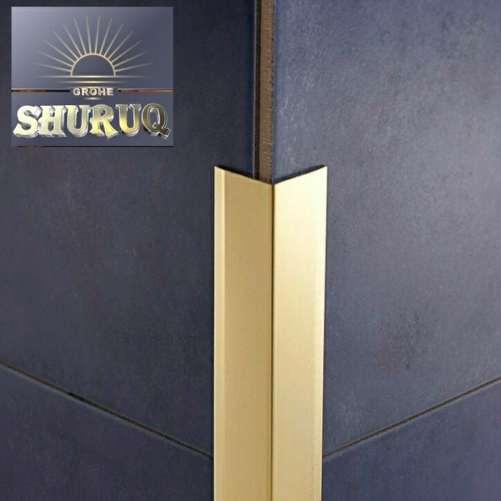 CORNER PROTECTION PROFILES FOR WALL (GOLD)15 mm