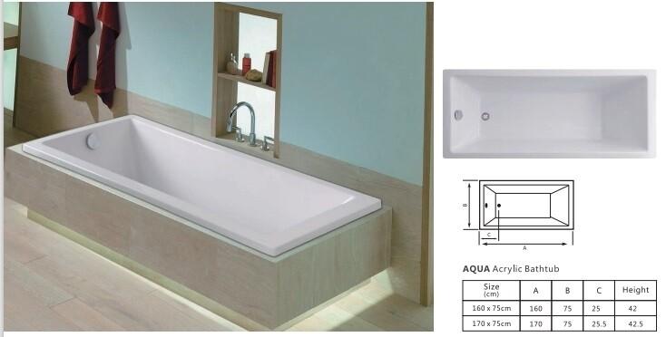 Aqua Acrylic Bathtub