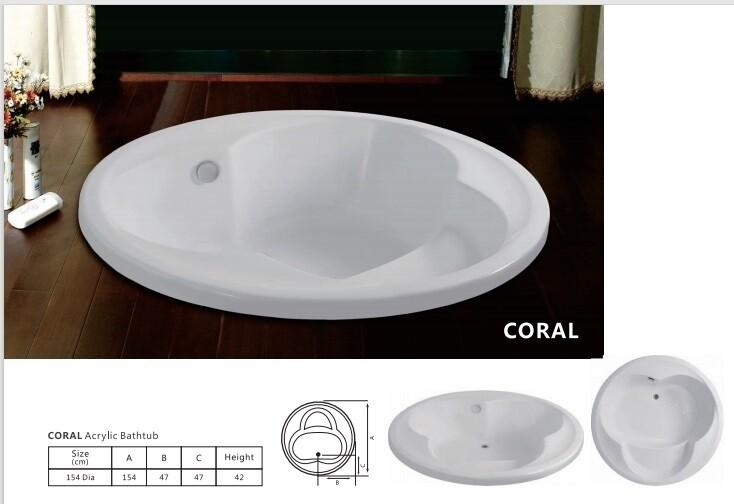Coral Acrylic Bathtub