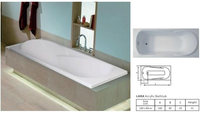 Lara Acrylic Bathtub