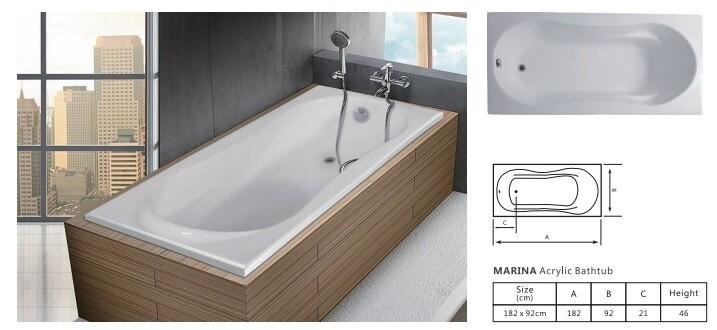Marina Acrylic Bathtub