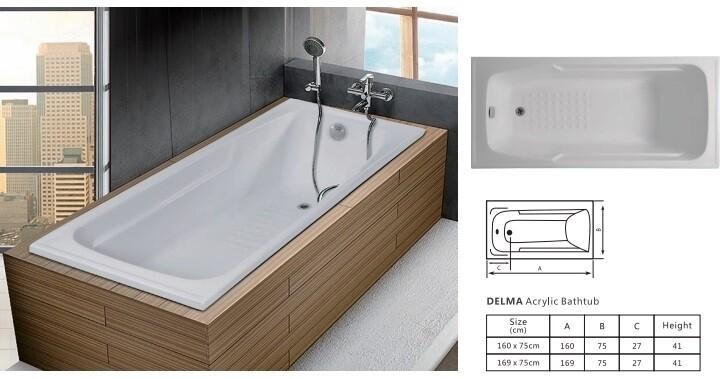 Delma Acrylic Bathtub
