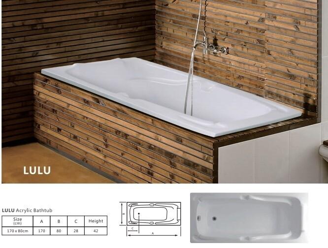 Lulu Acrylic Bathtub