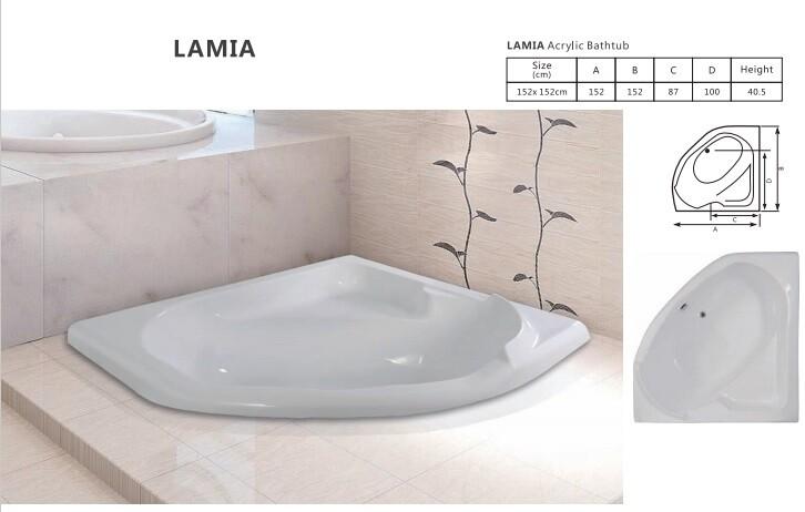 Lamia Acrylic Bathtub