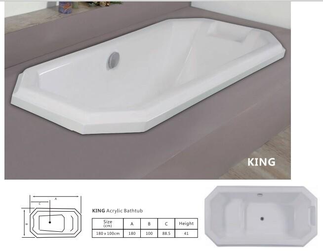 King Acrylic Bathtub
