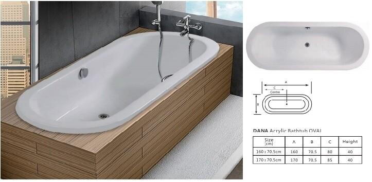 Dana Acrylic Bathtub OVAL