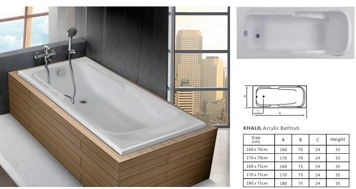 Khalil Acrylic Bathtub