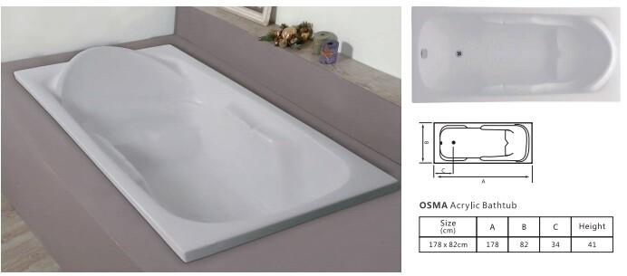 Osama Acrylic Bathtub