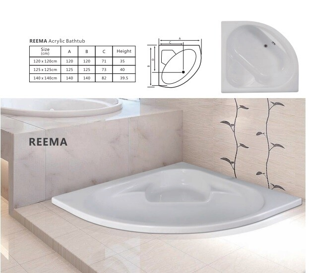 Reema Acrylic Bathtub