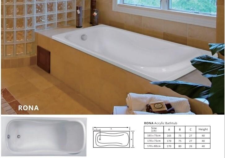 Rona Acrylic Bathtub