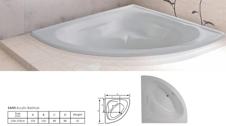 Sani Acrylic Bathtub