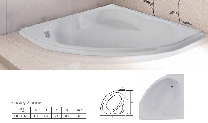 Sun Acrylic Bathtub
