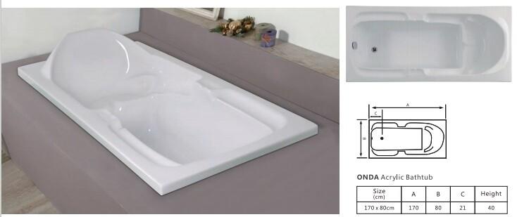 Onda Acrylic Bathtub