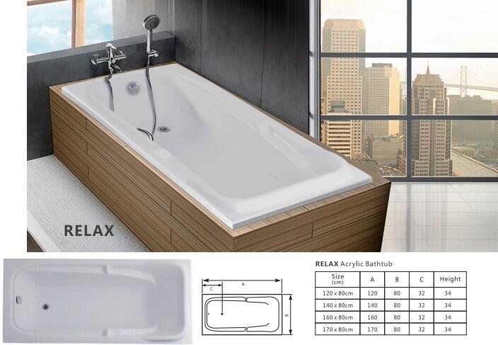 Relax Acrylic Bathtub