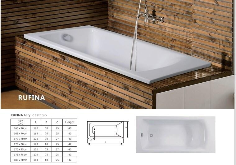 Rufina Acrylic Bathtub