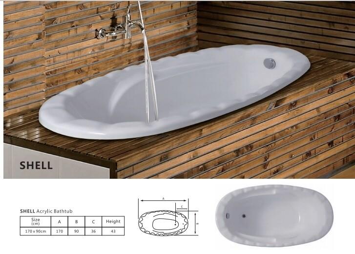 Shell Acrylic Bathtub