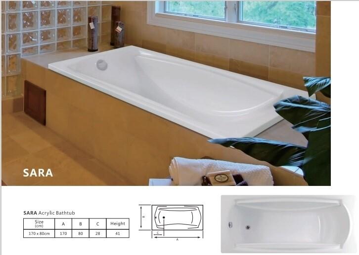 Sara Acrylic Bathtub
