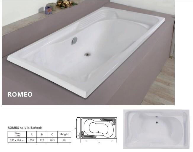 Romeo Acrylic Bathtub