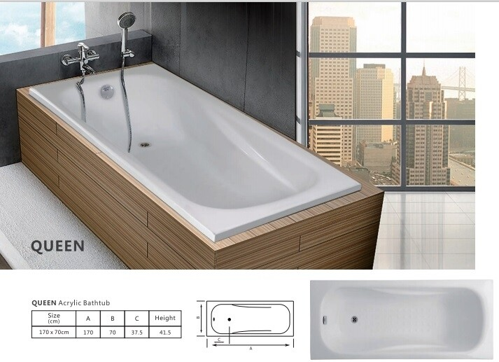 Queen Acrylic Bathtub