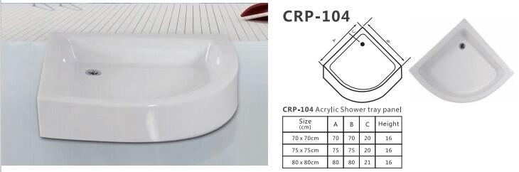 CRP 104 ACRYLIC SHOWER TRAY PANEL
